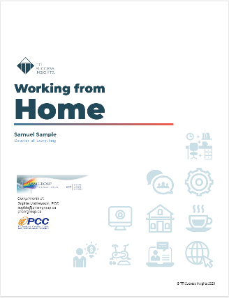 Working From Home Cover Page